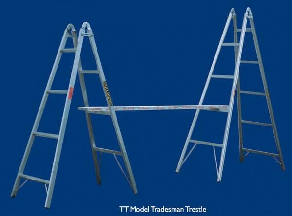 Trestle 2 4m Aluminium Pair Incl Plank Upper Hutt Hire