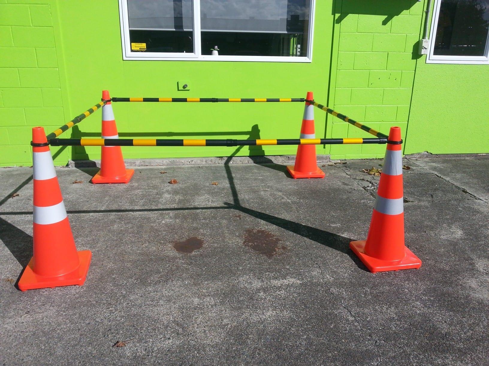 Traffic cones and extendable cone bars upper hutt hire