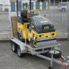 Bomag roller steam compactor road works roller compaction hire rent Upper Hutt