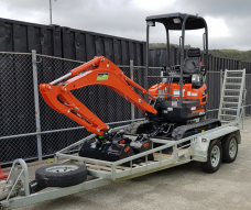 Upper Hutt Hire rent equipment borrow excavator digger earth removal Kubota IHI