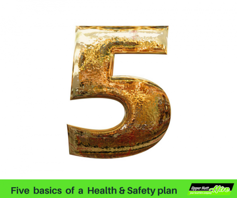 Five essentials health and safety plan critical H&S Upper Hutt Hire rent borrow equipment