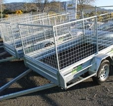 Trailer 8 x 5 (2.4m x 1.5m) Caged