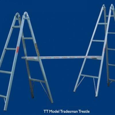 Trestle 3.0m Aluminium Pair incl Plank