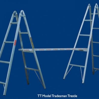 Trestle 2.4m Aluminium Pair incl Plank