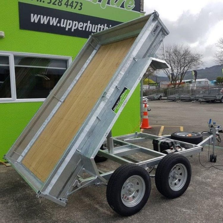 tip tipping trailer hydraulic Upper Hutt Hire Kennards rent Hirepool