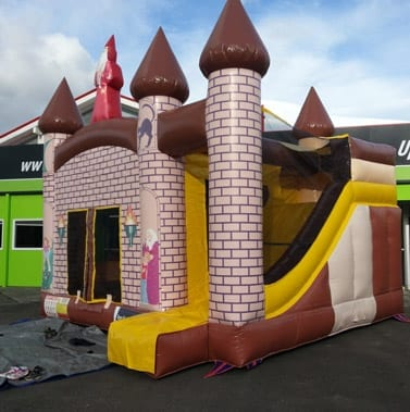 """Castle"" Bouncy Castle with Slide"