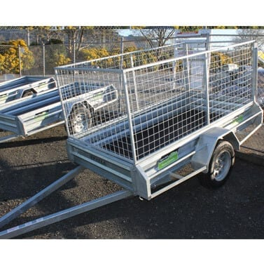 Trailer 8 x 4 (2.4m x 1.2m) Caged