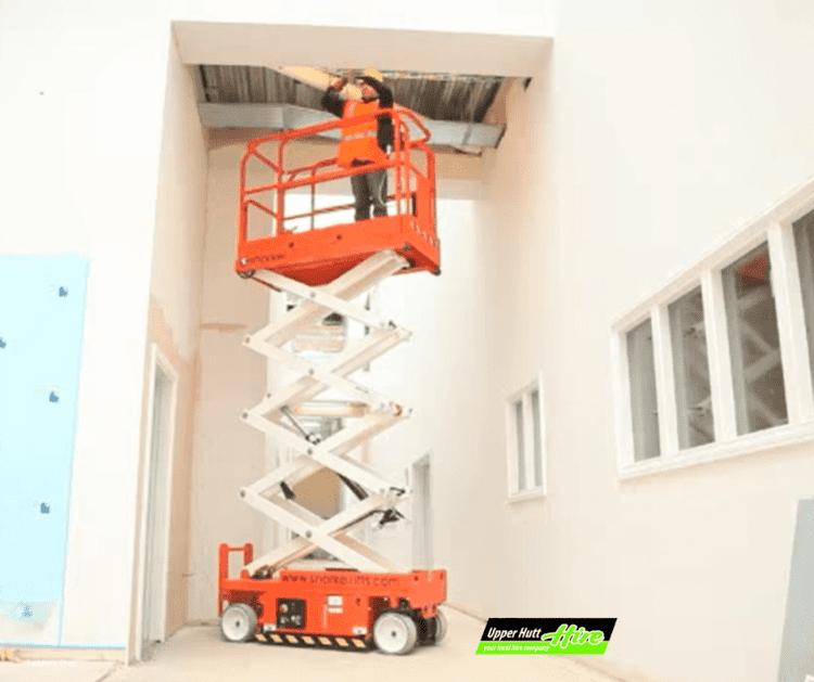 Upper Hutt Hire scissor lift lifeter rent Hirepool Kennards Access Height